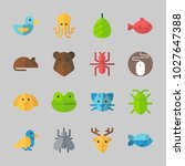 icons about animals with fish ... | Shutterstock .eps vector #1027647388