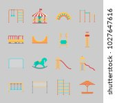 icons about amusement park with ... | Shutterstock .eps vector #1027647616