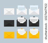envelope flat icon. vector... | Shutterstock .eps vector #1027647922