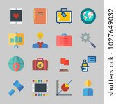 icons about business with... | Shutterstock .eps vector #1027649032