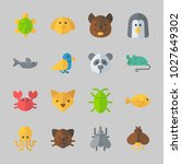 icons about animals with fox ... | Shutterstock .eps vector #1027649302
