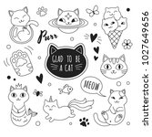 cats icons collection. vector... | Shutterstock .eps vector #1027649656