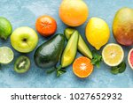 top view of different selected... | Shutterstock . vector #1027652932