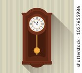 retro wooden clock pendulum... | Shutterstock .eps vector #1027655986