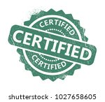 certified rubber stamp | Shutterstock .eps vector #1027658605