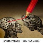 brain telepathy and mind... | Shutterstock . vector #1027659808