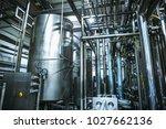 stainless steel brewing... | Shutterstock . vector #1027662136