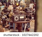antique street shop with old ...