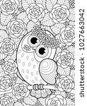 vector doodle coloring book...   Shutterstock .eps vector #1027663042