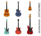various guitars set vector... | Shutterstock .eps vector #1027663882