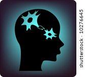 neuron in a brain | Shutterstock .eps vector #10276645