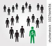 a pyramid scheme | Shutterstock .eps vector #1027664656