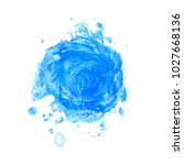 abstract blue watercolor stain... | Shutterstock .eps vector #1027668136