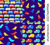 children's seamless patterns... | Shutterstock .eps vector #1027669906