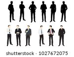 businessmen  standing  group... | Shutterstock .eps vector #1027672075