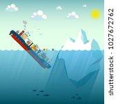 shipwreck iceberg container... | Shutterstock .eps vector #1027672762