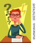 student character can not solve ... | Shutterstock .eps vector #1027674145