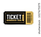 vector ticket isolated on white ... | Shutterstock .eps vector #1027675375