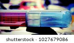 flashing and siren of the... | Shutterstock . vector #1027679086