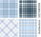 set of four seamless tartan... | Shutterstock .eps vector #1027680358