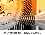 industrial conical gear and a... | Shutterstock . vector #1027682992