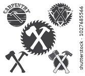 set of carpentry logos  badges...   Shutterstock .eps vector #1027685566