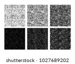 set of seamless pattern of hand ... | Shutterstock .eps vector #1027689202