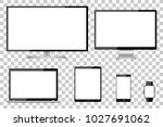 set of six black communication... | Shutterstock .eps vector #1027691062