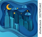 paper skyscrapers. achitectural ... | Shutterstock .eps vector #1027691662