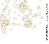 falling geometric figures.... | Shutterstock .eps vector #1027694716