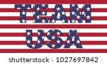 team usa words on flag | Shutterstock .eps vector #1027697842