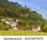 gutenberg castle in vaduz ... | Shutterstock . vector #1027697875