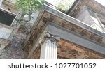 ruined old vintage residence  | Shutterstock . vector #1027701052