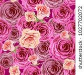 beautiful wedding roses... | Shutterstock .eps vector #1027702072