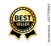 ribbon award best seller. gold... | Shutterstock .eps vector #1027703062
