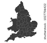 england map with wales | Shutterstock .eps vector #1027706422