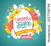 easter greeting cute design... | Shutterstock .eps vector #1027708798