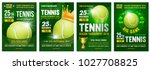 set of tennis posters with... | Shutterstock .eps vector #1027708825