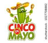 cinco de mayo emblem design... | Shutterstock .eps vector #1027708882