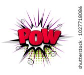 pow hand drawn pictures effects.... | Shutterstock .eps vector #1027718086