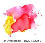 colorful abstract watercolor... | Shutterstock .eps vector #1027722352