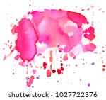 colorful abstract watercolor... | Shutterstock .eps vector #1027722376