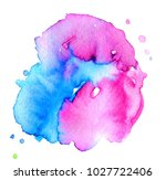 colorful abstract watercolor... | Shutterstock .eps vector #1027722406