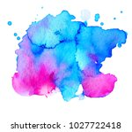 colorful abstract watercolor... | Shutterstock .eps vector #1027722418