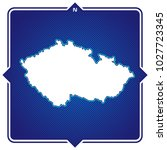 simple outline map of czech... | Shutterstock .eps vector #1027723345