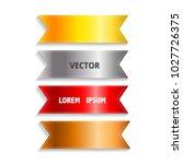 vector silky ribbon tags... | Shutterstock .eps vector #1027726375