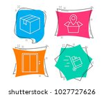 set of parcel  package location ... | Shutterstock .eps vector #1027727626