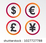 dollar  euro  pound and yen... | Shutterstock .eps vector #1027727788