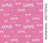 cute love seamless pattern | Shutterstock .eps vector #1027732162