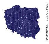 map of poland  high detailed... | Shutterstock .eps vector #1027735438